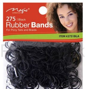 Magic Collection 275 Black Rubber Bands