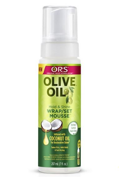 ORS Olive Oil Hold And Shine Wrap Set Mousse With Coconut Oil 207ml