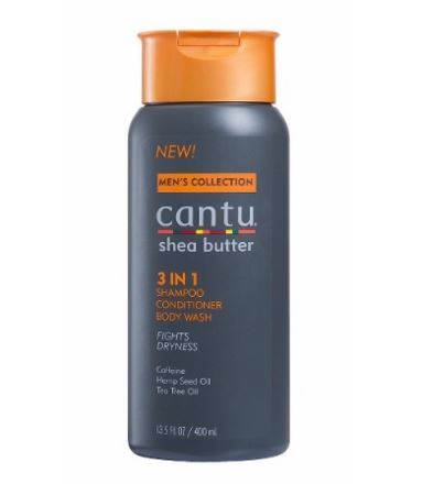 Cantu Mens Collection 3-in-1 Shampoo Conditioner Body Wash 400ml
