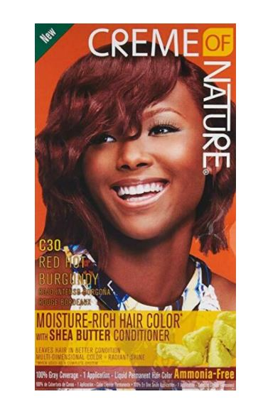 Creme Of Nature Permanent Hair Colour For Women Red Hot Burgundy